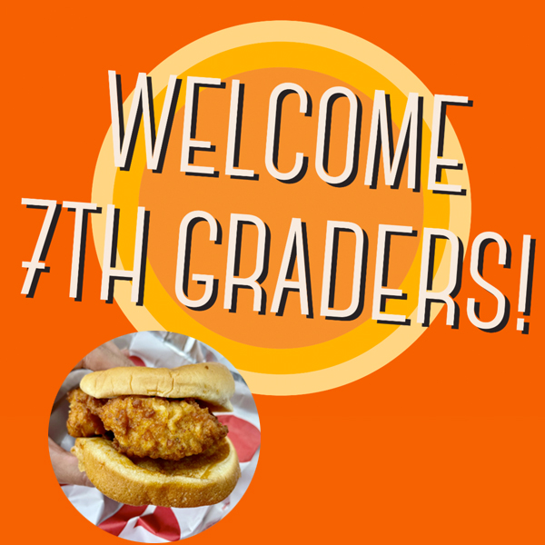 7th Grade Welcome Party