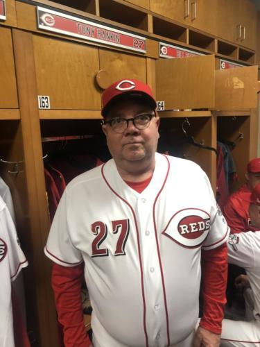 Tony in the locker room