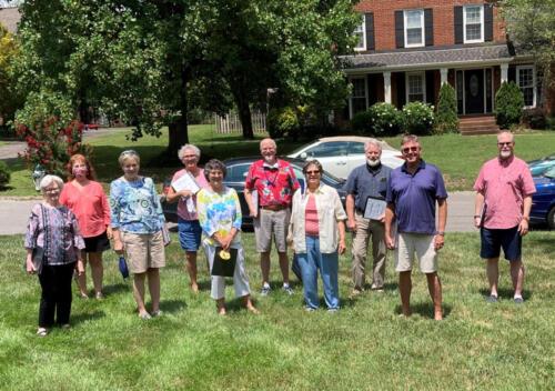 Covid Caroling group